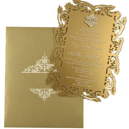 Acrylic Invitation Gold/Champagne