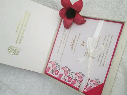 Fabric Covered Invitation