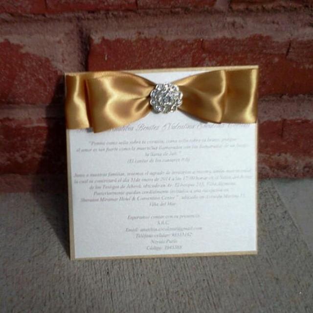 Layered Bow Invitation