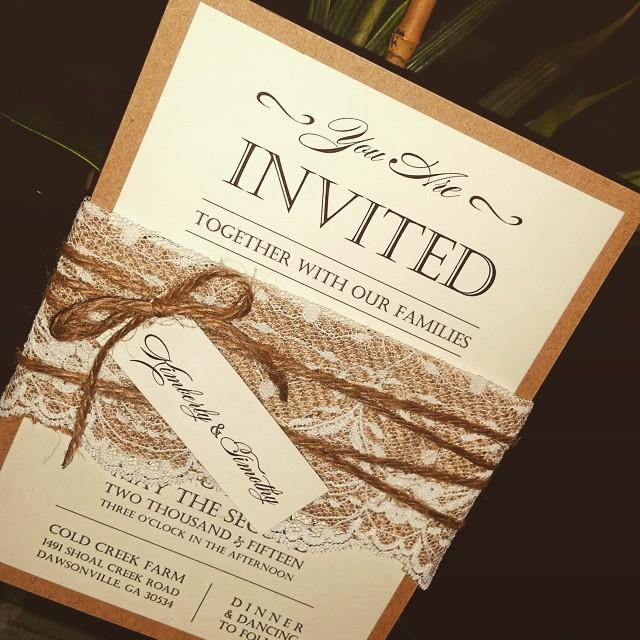 Country Chic Invitation