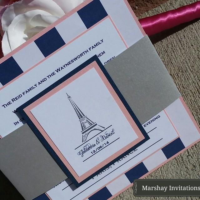Paris Themed Invitation