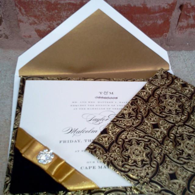 Black and Gold Invitation