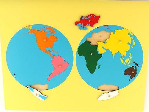 Carte de géographie : le monde