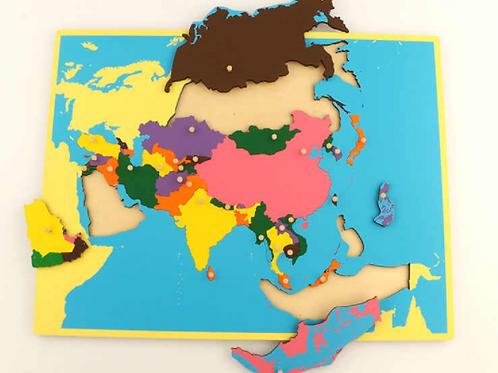 Carte de géographie : l'Asie