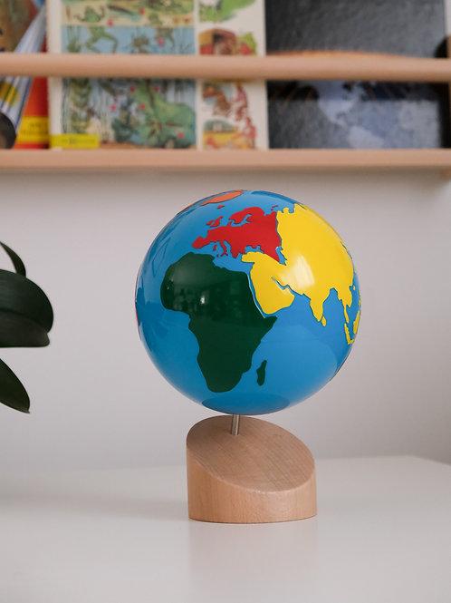 Globe lisse des continents