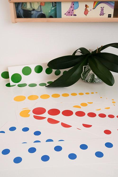 Cartes pour les cylindres de couleurs