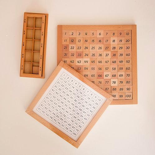 Table de 100 avec table de contrôle