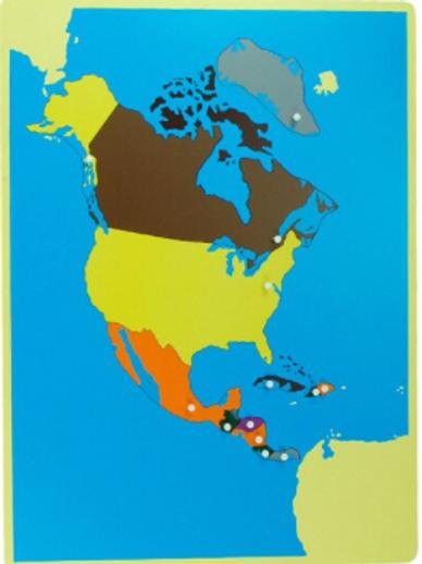 Carte de géographie : l'Amérique du nord