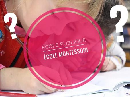 Les grandes différences entre l'éducation nationale et l'école Montessori