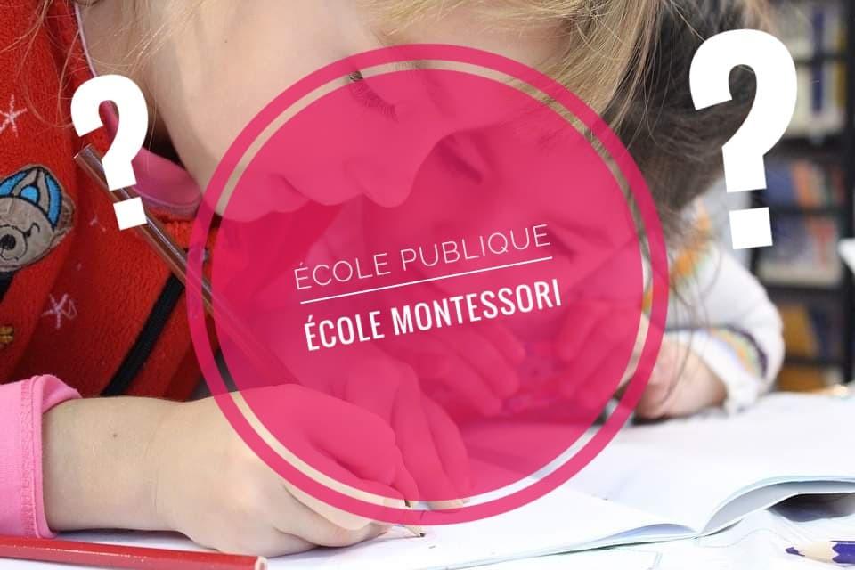 De plus en plus d'écoles Montessori voient le jour en France. Cela traduit la demande croissante des parents à vouloir une autre scolarité que celle qu'ils ont connue pour leurs enfants. Avant de choisir entre public ou Montessori, nous vous proposons de mettre en lumière les grandes différences entre l'école traditionnelle et l'alternative Montessorienne.