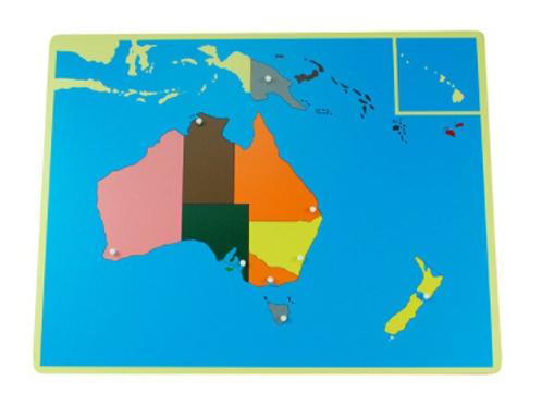 Carte de géographie : Océanie