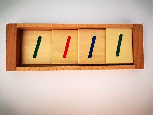 Symboles 1,10,100 et 1000 en bois