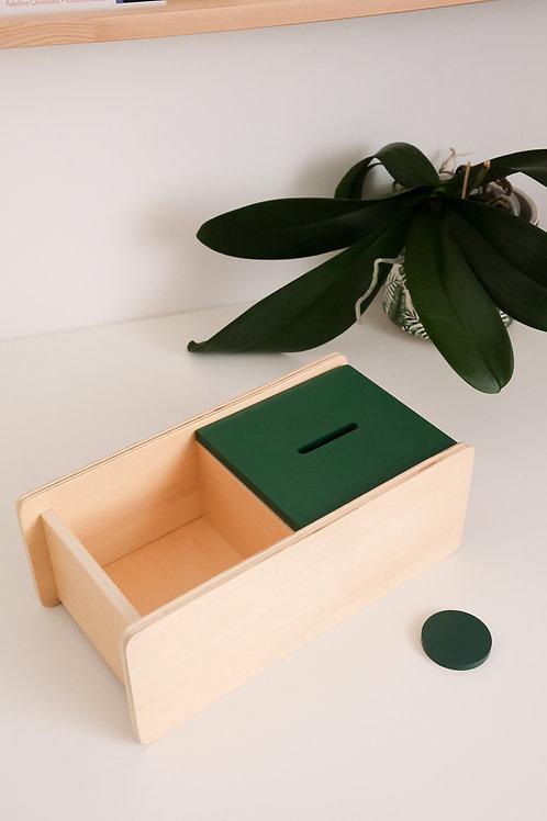 Boîte à forme avec couvercle basculant et palet