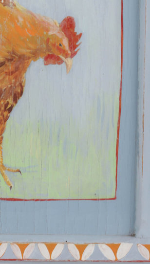 Illustration sur bois, détail