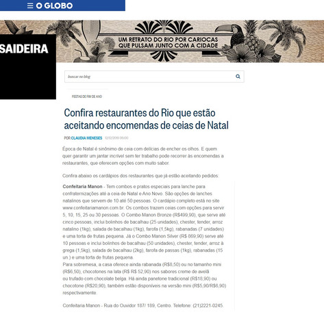 Manon O Globo Saideira 12 de dezembro de