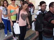 Caravana Escola de Profetas 2013 - Embarque do grupo para a Fortaleza de Massada