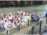 Batismo em Yardenit, no Rio Jordão - Caravana de Intercessão 2013