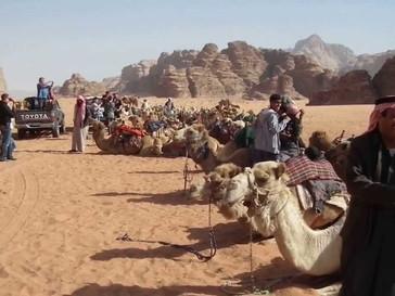 Deserto de Wadi Rum, ao sul da Jordânia