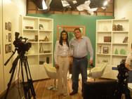 Fernando Costa, Diretor da El Gibor e Ana, produtora do programa Gideões, nos estúdios da rede Super de Televisão.