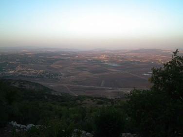 Vista do Vale do Armagedon, onde Elias derrotou os Profetas de Baal - Israel