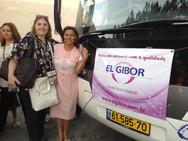 Pra. Ezenete Rodrigues e Rosana Sancricca, Diretora da El Gibor, em Israel, durante a Caravana de Intercessão 2013