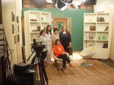 Nos estúdios da Rede Super de Televisão, logo após a gravação do programa Gideões, com a Pra. Ângela Valadão