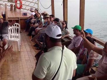 Caravana Intercessão em Israel 2013 - Passeio de Barco no Mar da Galiléia