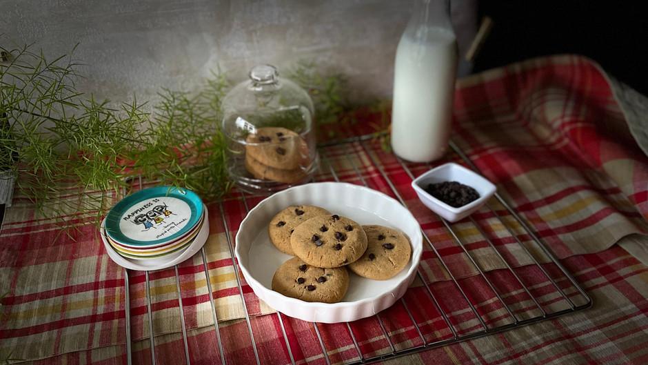 Eggless Wheat Chocochip Cookies