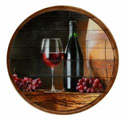 הדפסה על חבית יין