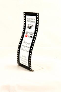 2x6 acrylic curvy film strip