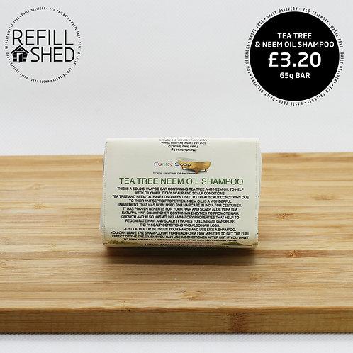 Funky Soap Shampoo Bar - Tea Tree & Neem Oil