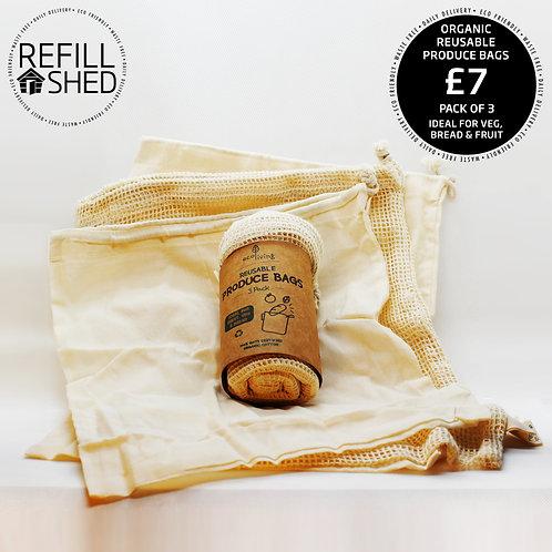 Organic Reusable Produce Bags