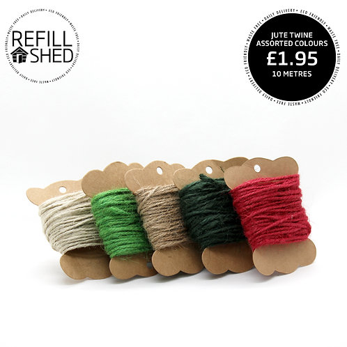 Jute Twine 10m Assorted Colours