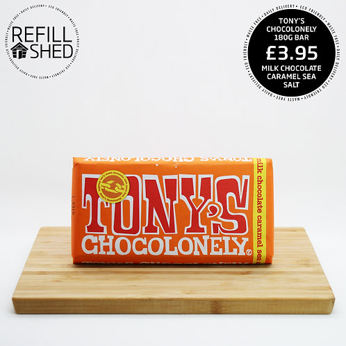 Tony's Chocolonely: Milk Chocolate Caramel Sea Salt 180g
