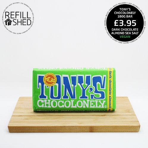 Tony's Chocolonely: Dark Chocolate Almond Sea Salt 180g VEGAN