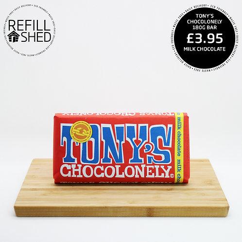 Tony's Chocolonely: Milk Chocolate 180g