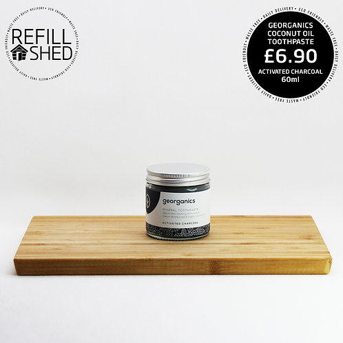 Georganics Activated Charcoal Coconut Oil Toothpaste 60ml