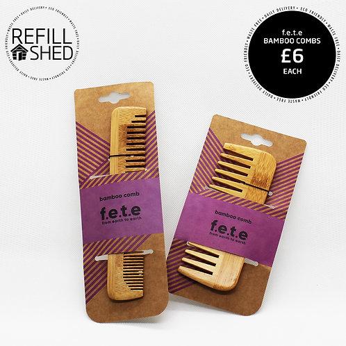 F.E.T.E. Bamboo Combs