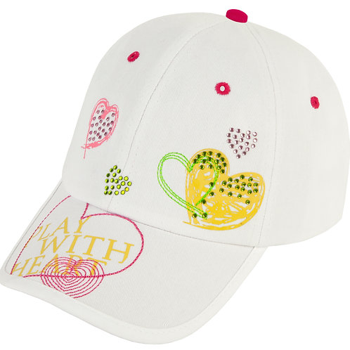 """GIRLS GOLF - CAPS """"Play with Heart"""""""