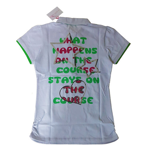GIRLS GOLF POLO - WHAT HAPPENS