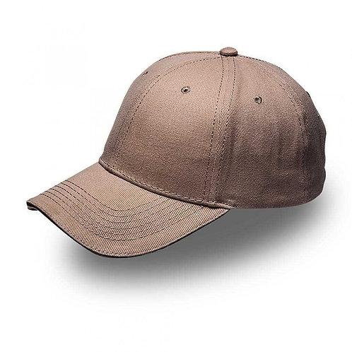 HEADWEAR24 Sandwich Peak Cap - Khaki/Black