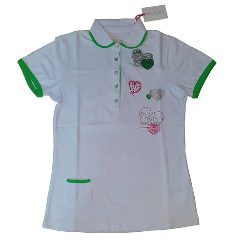 GIRLS GOLF POLO - PLAY WITH HEART