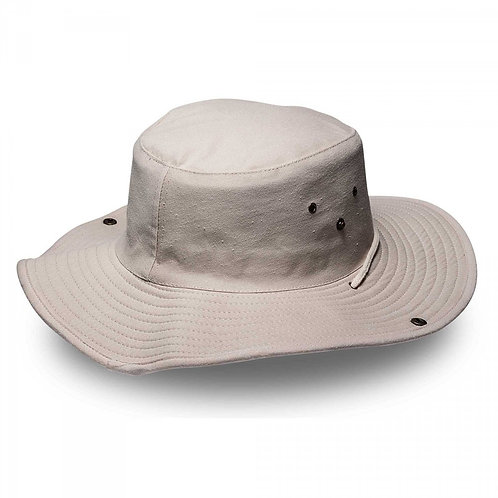 HEADWEAR24 SAFARI WIDE BRIM Hat - Stone
