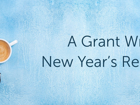 A Grant Writer's New Year's Resolutions