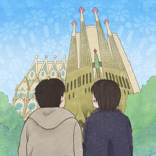 結婚記念日品(自宅用鑑賞)イラストレーション