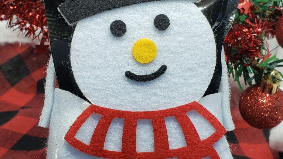 Snowman Felt Basket
