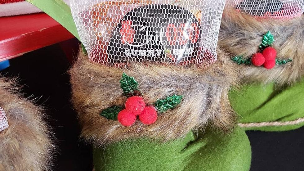 Small Santas Shoe Stash - Green