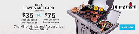 Banner sample of Char-Broil promotion