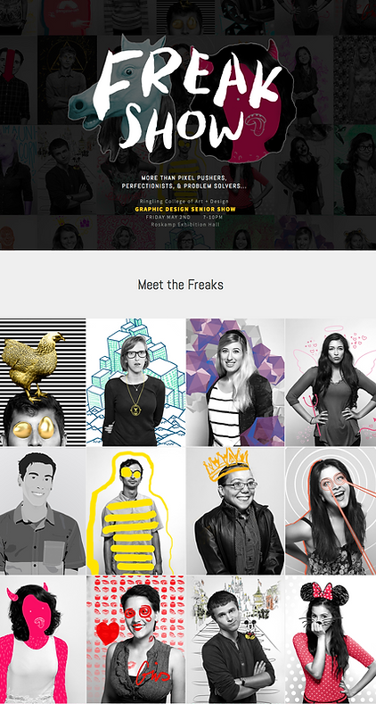 FreakShow2014.com Screenshot