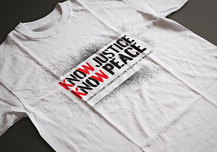 Know Justice, Know Peace logo by David Haire
